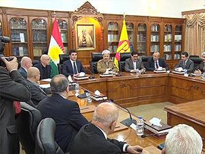KDP Politbüro Mesud Barzani başkanlığında toplandı