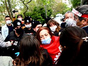 Taksim'de DİSK yöneticileri dahil çok sayıda gözaltı