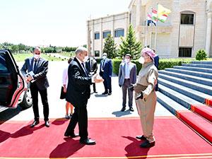 Mesud Barzani, Fransa Dışişleri Bakanı ile görüştü