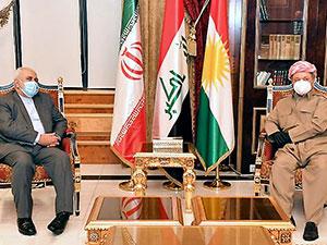 Mesud Barzani, Cevad Zarif'i kabul etti