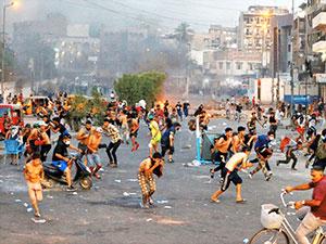 Irak'ta  göstericilere ateş açıldı: Ölü ve yaralılar var