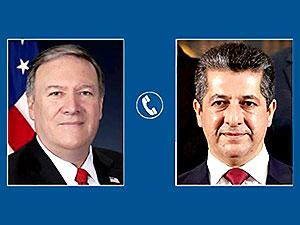 Pompeo ile Barzani telefonda görüştü