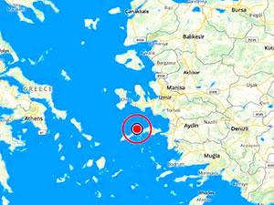 Ege Denizi'nde 4.4 büyüklüğünde deprem