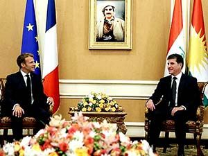 Fransa Cumhurbaşkanı Macron Hewler'de