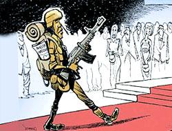 Obama'nın 'Nobel barış ödülüne' çizer yorumu
