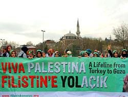 Filistin Konvoyu'na katılacaklar İstanbul'da buluştu