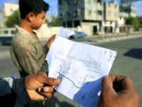 İsrail Gazze'ye binlerce bildiri attı!