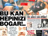 Erdoğan'a tehdit gibi 'ülkücü kanı' manşeti