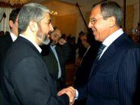 Halid Meşal, Lavrov'la görüştü