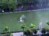 Helikopter böyle düştü!