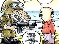 İsrail'in saldırısı mizah dergilerinde