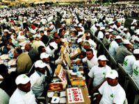 Ankara'da 70 bin kişi ile iftar rekoru