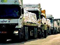 Yardım konvoyu Gazze'ye ulaştı