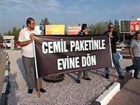 Cemil Çiçek'e KKTC'de protesto