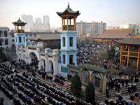 Çin'de 100 bin kişilik bayram namazı