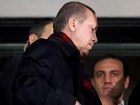Erdoğan stadı terk etti