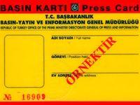 İnternet medyasına da sarı basın kartı!