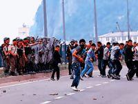Erdoğan taşlanırken Jandarma izliyordu!