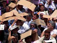 Cizre'de sıcağa rağmen Sivil Cuma