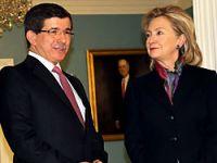 Davutoğlu Clinton'a teşekkür etti