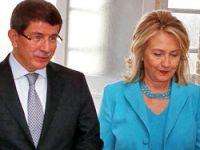 Davutoğlu, Clinton'la görüştü