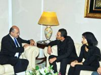 Berhem Salih Temo'nun oğlu ile görüştü