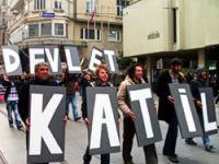 Taksim'de Dersim protestosu