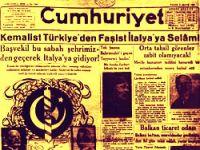 'Kemalist Türkiye'den Faşist İtalya'ya Selam!'