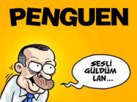 Penguen Erdoğanı böyle güldürdü!