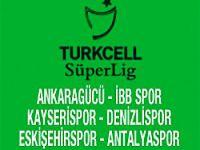 Turkcell Süper Lig'te 3 maç var