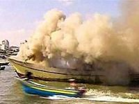 İsrail'in vurduğu tekne kıyıya yanarak ulaştı