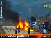 Tunceli'de şiddetli patlama