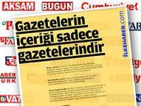 Gazetelerin bildirisi Anayasa'ya aykırı...