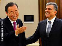 Gül, BM Genel Sekreterini kabul etti