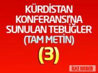 DDKD Genel Başkanı İmam Taşcıer'in  Konferansa sunduğu tebliğ