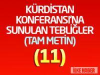 Tüm PKK'li ve PJAK'lı tutsakların Konferansa sunduğu tebliğ