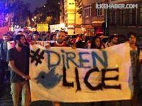 İstanbul'da Lice protestoları başladı