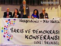 Barış ve Demokrasi Konferansı Brüksel'de başladı