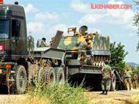 Kilis'te sınıra askeri sevkiyat