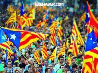 Katalonya'da 'bağımsızlık' için 400 km'lik insan zinciri
