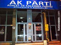Diyarbakır AK Parti binasına molotoflu saldırı