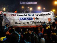Erdoğan'ın mitingine damga vuran pankart