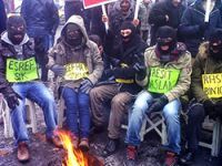 Erzurum'da haksız tutuklamaya protesto