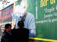 Öcalan posterleri polislerce kaldırıldı