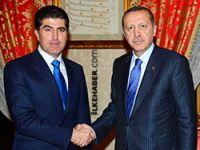 Erdoğan Neçirvan Barzani ile bir araya geldi