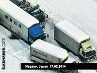 Yoğun kar yağışı Japonya'da hayatı felç etti