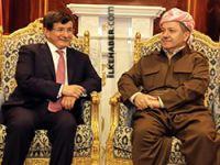 Mesut Barzani ile Davutoğlu Hewlêr'de görüştü