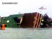 Güney Kore'de 471 yolcu taşıyan gemi battı