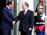 Barzani Paris'te Fransa Cumhurbaşkanı ile görüştü
