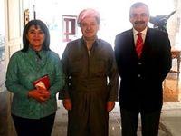Barzani, Zana ve Önder'i kabul etti